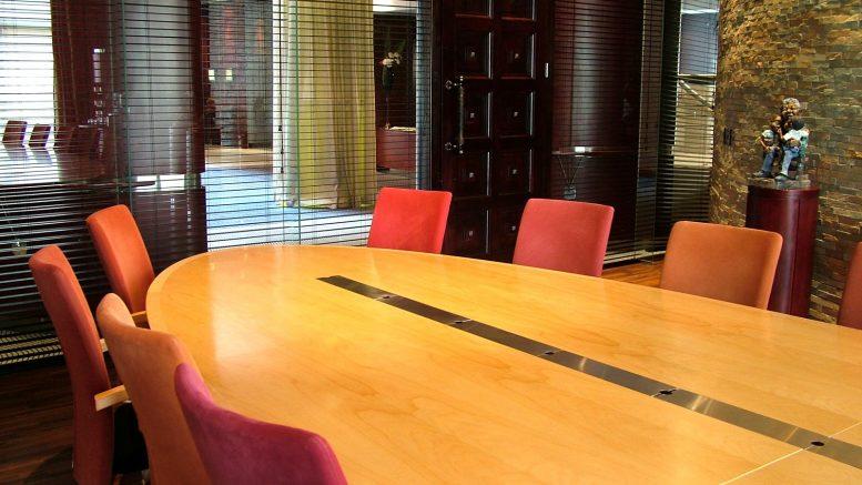 Business class boardroom